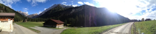 Panorama picture from the terrace of Cergnement