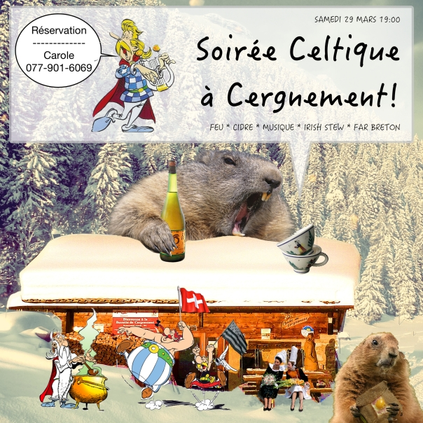 Soiree Celtique a Cergnement