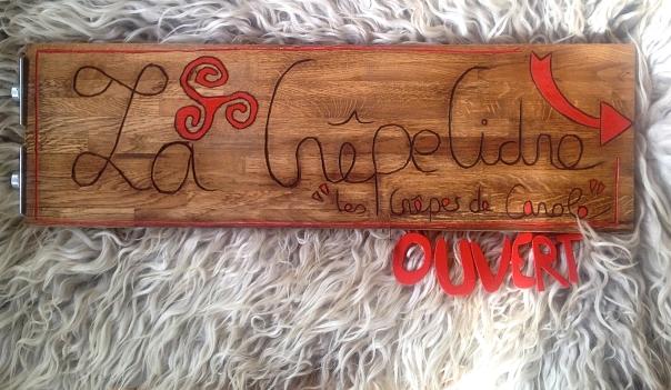 La Crepecidre - New sign